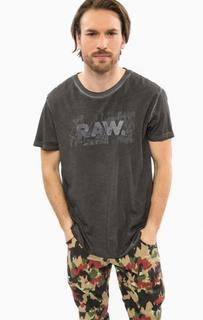 Серая футболка с принтом G Star RAW
