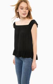 Черная блуза свободного кроя D&S Ralph Lauren