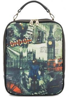 Кожаная сумка-рюкзак со съемными лямками Curanni