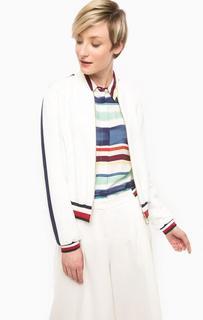 Белая куртка на молнии Tommy Hilfiger