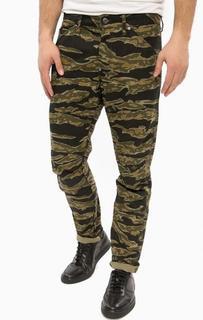 Зауженные джинсы с камуфляжным принтом G Star RAW