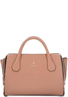 Бежевая сумка из натуральной кожи Modalu London