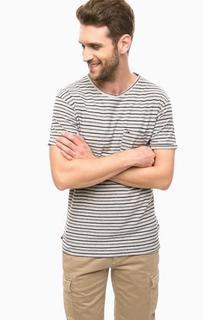 Хлопковая футболка в полоску Hilfiger Denim