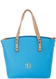 Синяя сумка с длинными ручками Trussardi Jeans