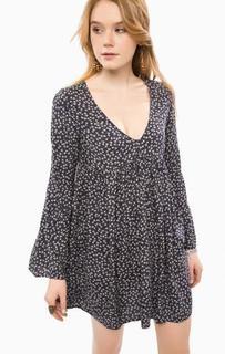 Платье из вискозы свободного кроя D&S Ralph Lauren