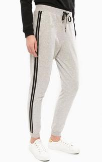 Серые брюки в спортивном стиле с манжетами Liu Jo Sport