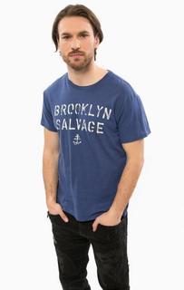 Синяя хлопковая футболка с короткими рукавами D&S Ralph Lauren