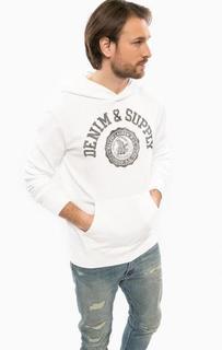 Белая толстовка с карманом-кенгуру D&S Ralph Lauren