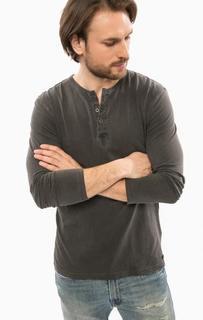 Хлопковая футболка с длинными рукавами D&S Ralph Lauren