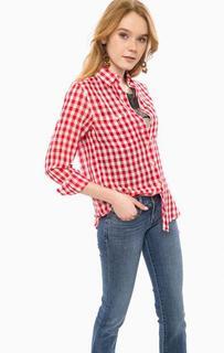 Красная хлопковая рубашка в клетку D&S Ralph Lauren
