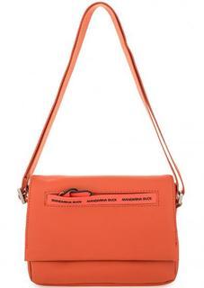 Оранжевая сумка с откидным клапаном Mandarina Duck