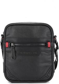 Маленькая черная сумка через плечо Trussardi Jeans