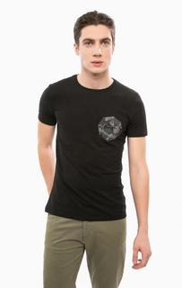 Черная футболка из хлопка Liu Jo Uomo