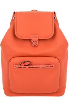 Вместительный рюкзак оранжевого цвета Mandarina Duck