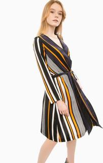 Платье в полоску с поясом Cinque
