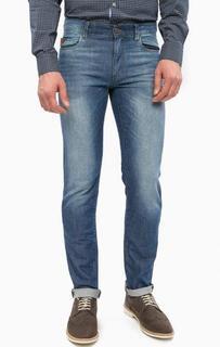 Зауженные синие джинсы с легкими заломами Trussardi Jeans