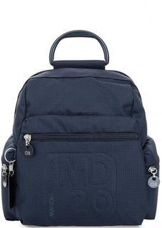 Синий текстильный рюкзак с карманами Mandarina Duck