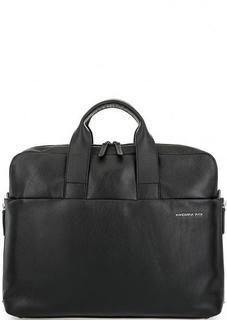 Кожаная сумка с короткими ручками и широким плечевым ремнем Mandarina Duck