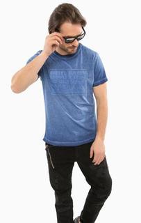 Синяя хлопковая футболка Diesel