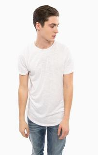 Белая футболка с круглым вырезом Besilent