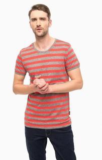 Хлопковая футболка в полоску Strellson