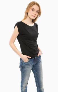 Синяя блуза с короткими рукавами Cinque