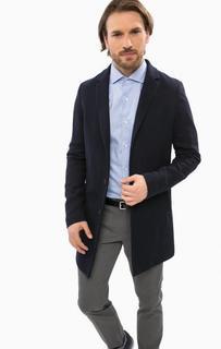 Классическое синее пальто на пуговицах Cinque