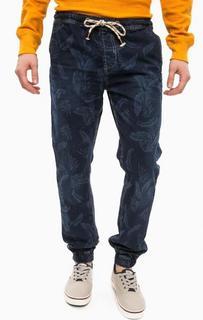 Синие брюки из хлопка с манжетами Alcott