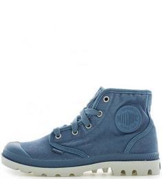 Летние текстильные ботинки синего цвета Palladium
