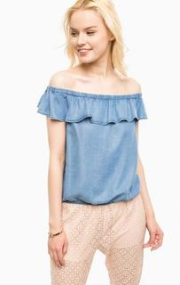 Блуза из денима с открытыми плечами Kocca