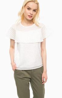 Хлопковая блуза с короткими рукавами Kocca