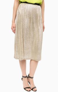 Плиссированная юбка золотистого цвета Kocca