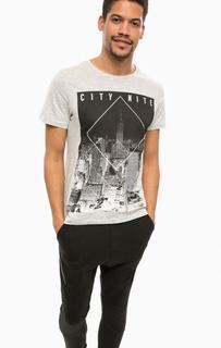 Серая хлопковая футболка Alcott