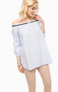 Хлопковая блуза в полоску Kocca