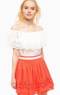 Белая хлопковая блуза Kocca