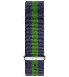 Широкий текстильный ремешок для часов Daniel Wellington