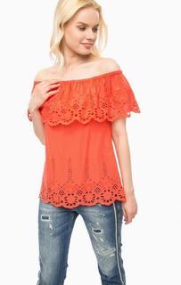 Хлопковая блуза с вышивкой Kocca