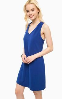 Короткое синее платье расклешенного силуэта Kocca