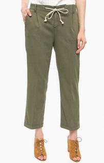 Хлопковые брюки цвета хаки Kocca