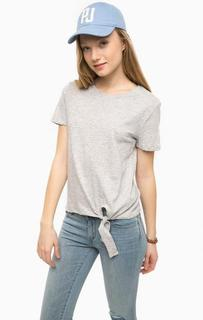 Серая футболка с короткими рукавами Tom Tailor Denim