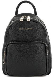 Черный кожаный рюкзак с одним отделом Fiato Dream
