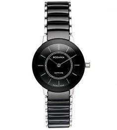 Часы круглой формы с керамическим браслетом Rodania