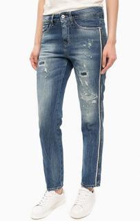 Рваные джинсы с заломами Kocca