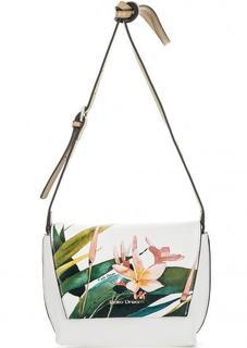Кожаная сумка с цветочным принтом Fiato Dream