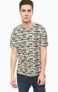 Хлопковая футболка с круглым вырезом Alcott