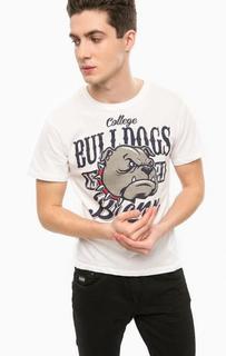 Белая футболка с принтом Alcott