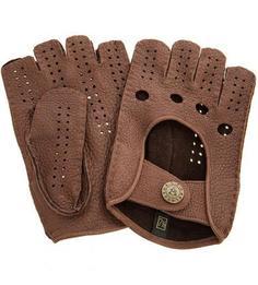Автомобильные кожаные перчатки на кнопке Bartoc