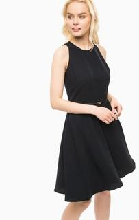 Приталенное синее платье без рукавов Kocca