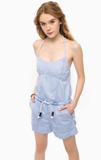 Голубой комбинезон с карманами Pepe Jeans
