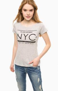 Серая футболка с удлиненной спинкой Alcott